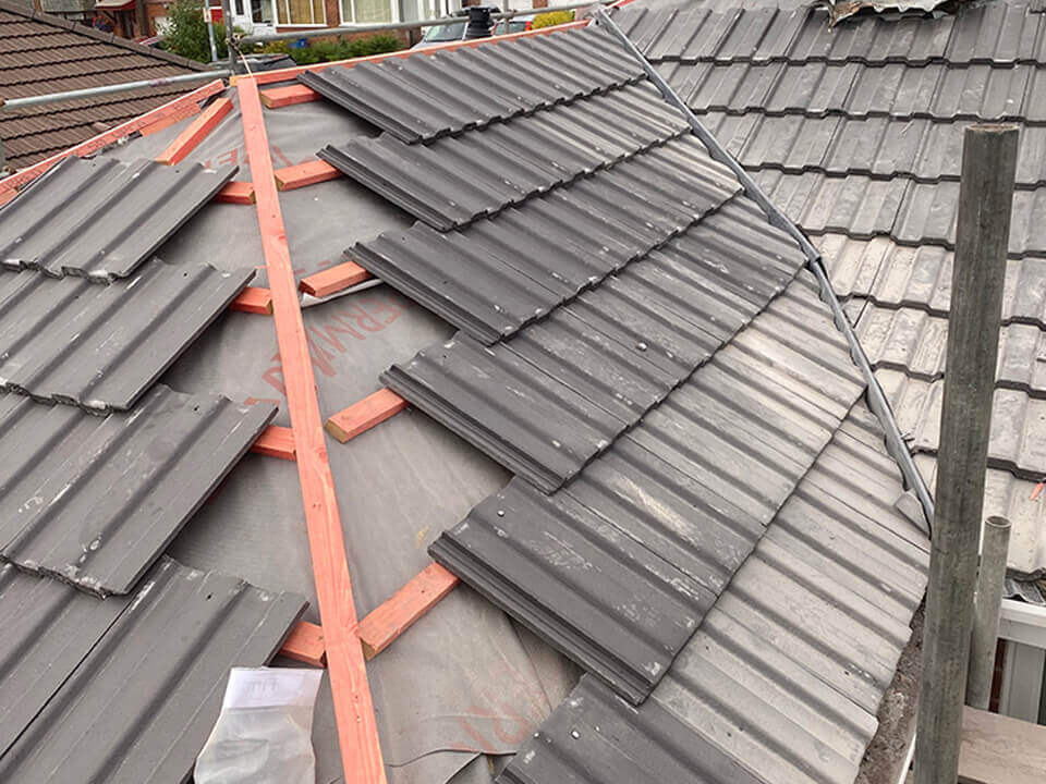 New Bury new roof