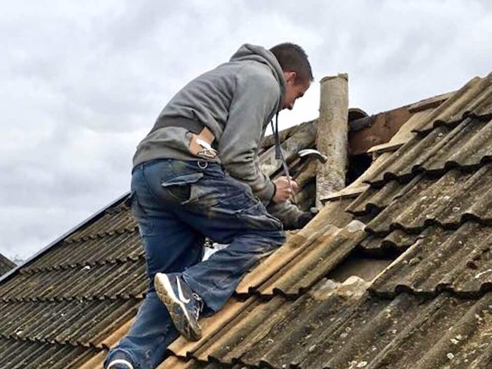 Slate roof repair Sharston