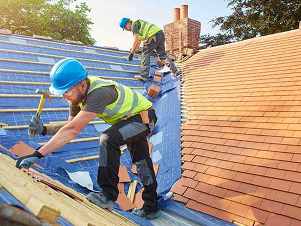 Repair all roofs in Belfield
